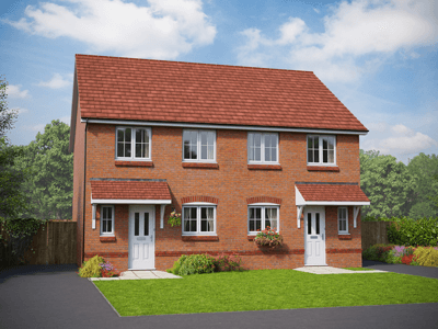 Red brick new build property - The Powys