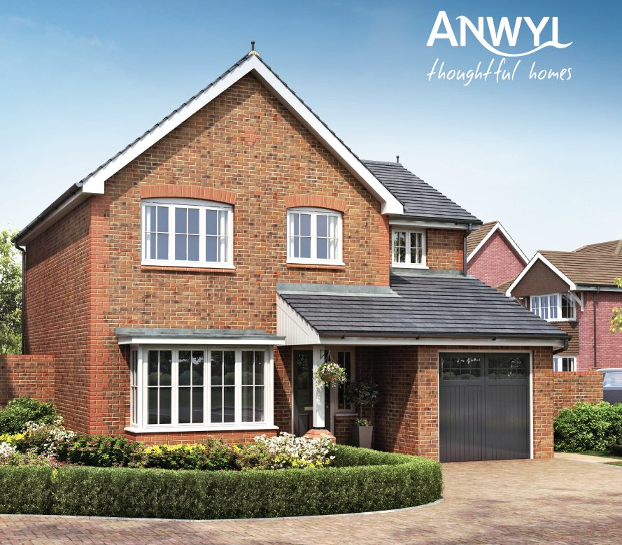 Anwyl homes image of red brick Abersoch home